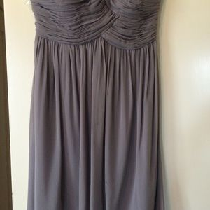 "Donna Morgan ""Morgan Strapless Sterling Silk Dress"